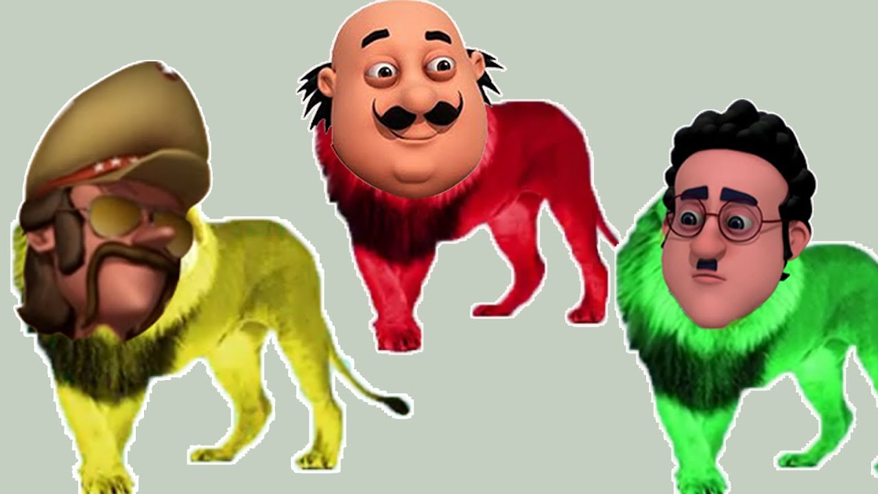 Motu Patlu Chingam Heads Lion King Learn Colors With Finger Family