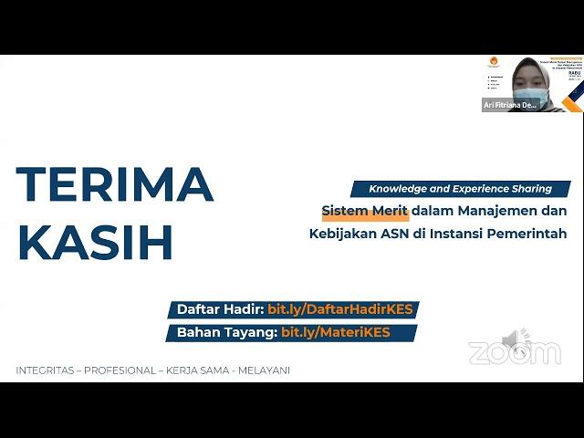 Knowledge and Experience Sharing: Sistem Merit dalam Manajemen ASN di Instansi Pemerintah