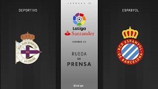 Rueda de prensa Deportivo vs Espanyol