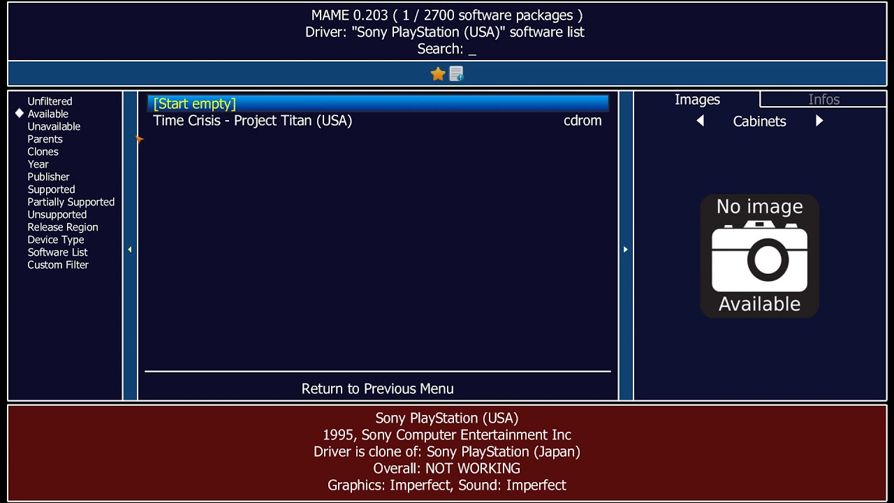 list of working mame chd games