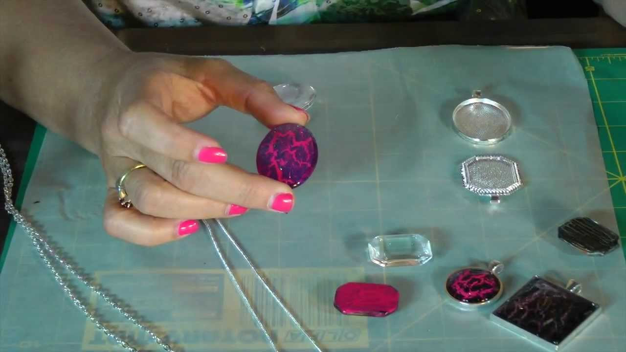 Crackle Pendant Tray Necklace Tutorial Nail Polish