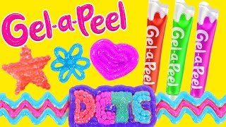Gel-a-Peel NEW Sparkle GEL PENS Craft Jewelry - Bracelets, Earrings, Keychains (DCTC Toy Reviews)