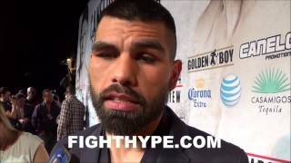 ALFREDO ANGULO MAKES IT CLEAR THAT HE DOESN