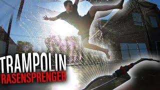 Trampolin-RASENSPRENGER Challenge 🌊