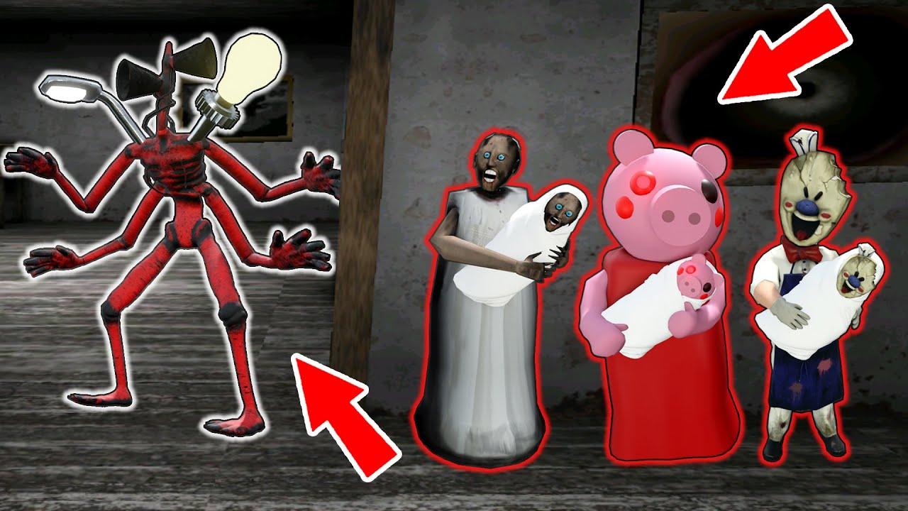 Monster Head vs Granny, Piggy, Ice Scream - funny horror animation parody (p.36)