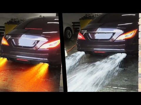 CARS Spitting WATER and FLAMES!! UNBELIEVABLE !