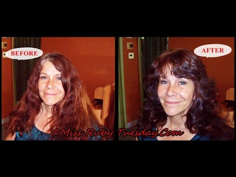 Giving The Farrah Fawcett Haircut On One Length Hair