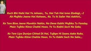 Soch Na Sake - Original Karaoke With Lyrics Airlift,.mp4
