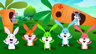 Five Little Rabbits | Nursery Rhymes For Kids  | Kindergarten Video For Toddlers by Kids tv