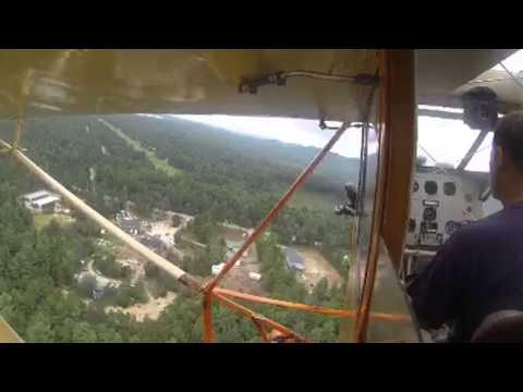 Landing a 1929 Curtiss Robin at Windsock Village NH69