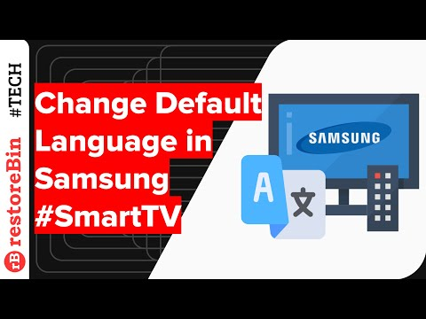 How to change default display Language in Samsung Smart TV?