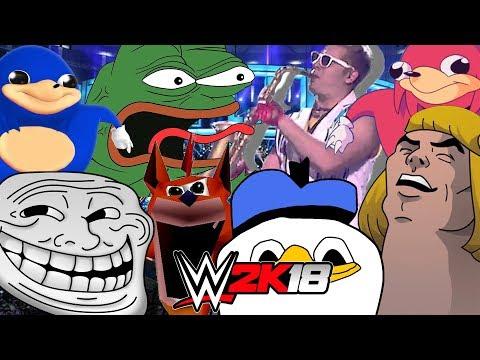 MEME Royal Rumble WWE 2K18 Gameplay