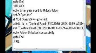 Ordner mit Passwort schützen [ohne Zip/rar]