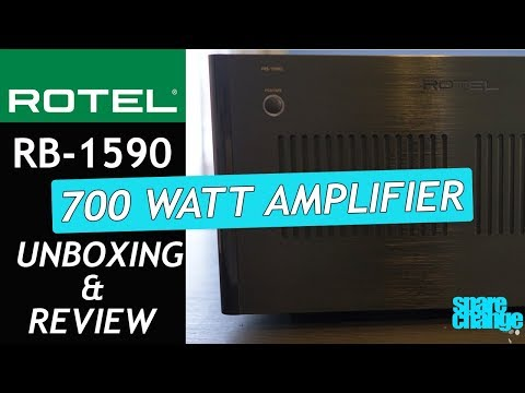 ROTEL RB 1590 AMPLIFIER Review With MartinLogan ESL X  | The 700 Watt BEAST!