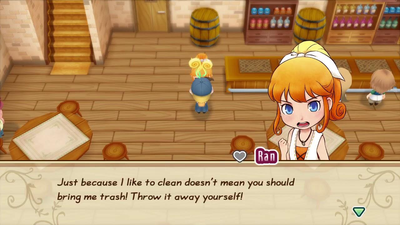 Harvest Moon Story Of Seasons FOMT Give Ran Trash - YouTube
