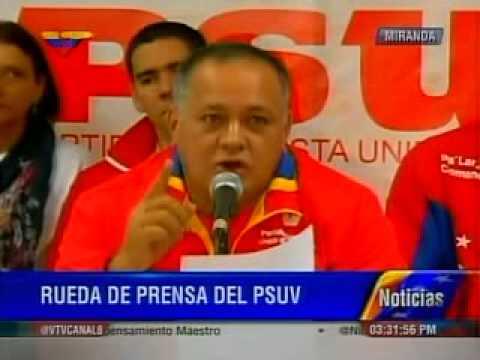 Rueda de prensa del PSUV presidida por Diosdado Cabello este 28 de octubre de 2013