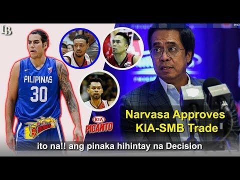Narvasa Pumayag Na Sa Trade Ng KIA-SMB