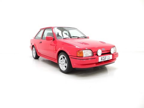 A Ford Escort RS Turbo Series 2 with 37,759 Miles, Family Owned for 30 Years - SOLD!
