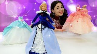 Барби готовится к балу. Игры одевалки для девочек.