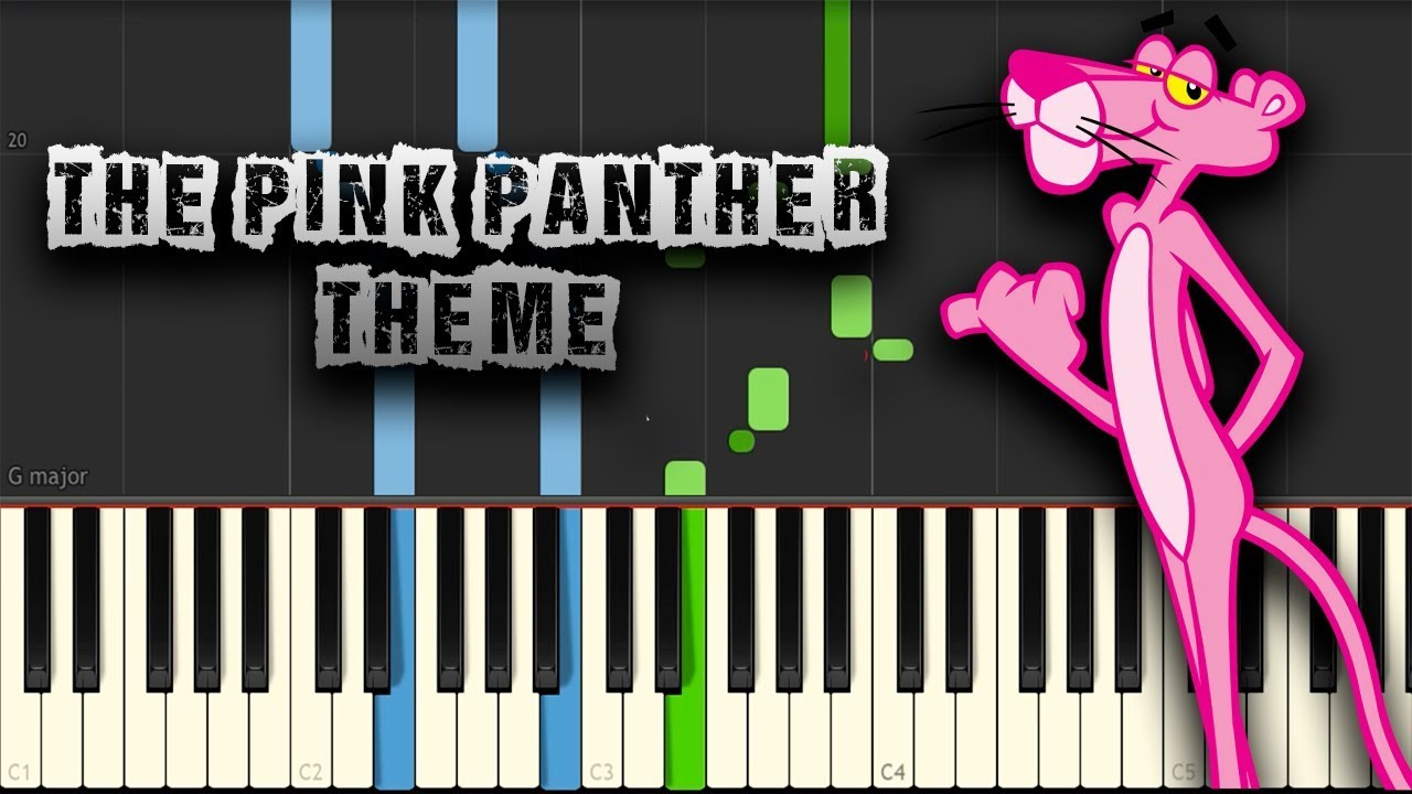 The Pink Panther - Theme - [Piano Tutorial] (Synthesia) (Download MIDI +  PDF Scores)