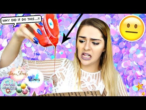 FAMOUS SLIME PACKAGE REVIEW FROM ETSY SLIME SHOPS! GLITTER S