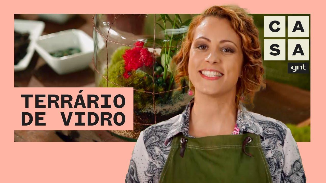 Como fazer um TERRÁRIO na GARRAFA DE VIDRO   Jardinagem   Carol Costa