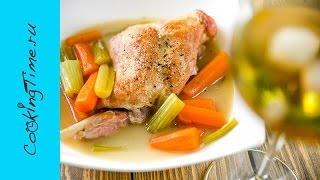 Кролик в белом вине - простой рецепт вкусного ужина - готовим дома