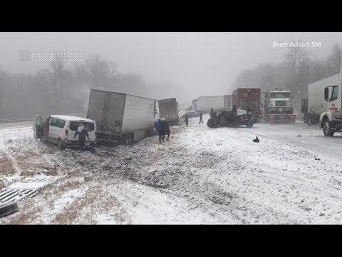 Winter storm brings snow, ice, sleet and rain across the US