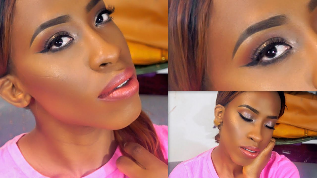 Neutral Glam Prom Makeup Tutorial For Black Women (Full Face) - YouTube