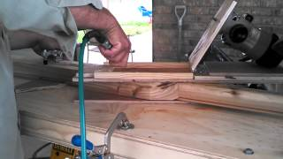 Shutter rebuild, louver slot jig in action