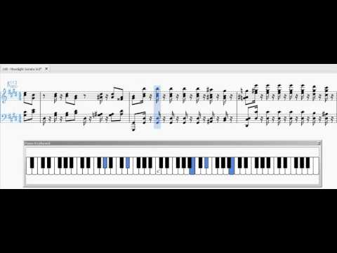Beethoven - Moonlight Sonata 3rd Movement Scrolling Score