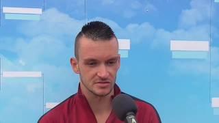 Michal Konečný po prohře v 1. kole na turnaji Futures v Pardubicích