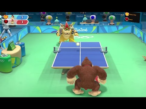 Mario & Sonic at the Rio 2016 Olympic Games - Table Tennis (Gameplay with All Characters)