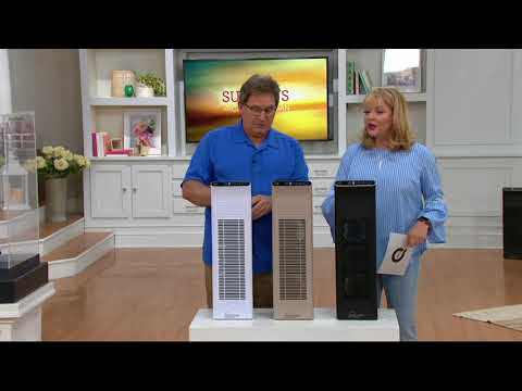 Ionic Pro Platinum Air Purifier w/ Filter and Remote Control on QVC