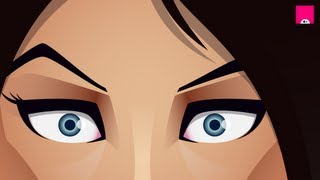 Adobe Illustrator Timelapse - girl part 1 of 2 - face
