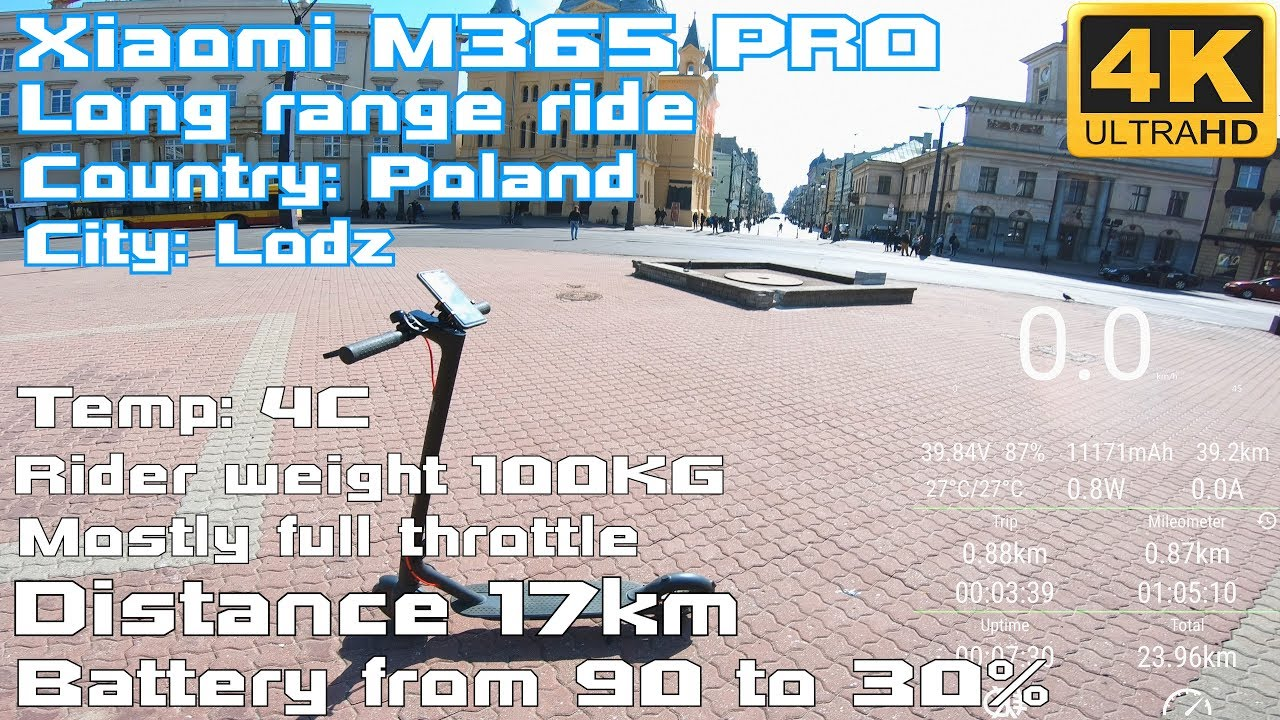 Xiaomi M365 PRO 🛴 true Long Range Ride around City 17KM ⚡ Full powa 🚀🍕🍻