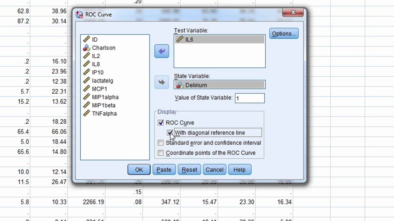 SPSS Video #9: Obtaining An ROC Curve In SPSS