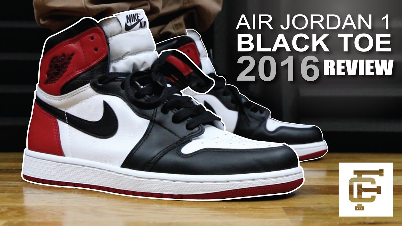 finest selection 2162b 4856a AIR JORDAN 1 BLACK TOE 2016 EARLY REVIEW