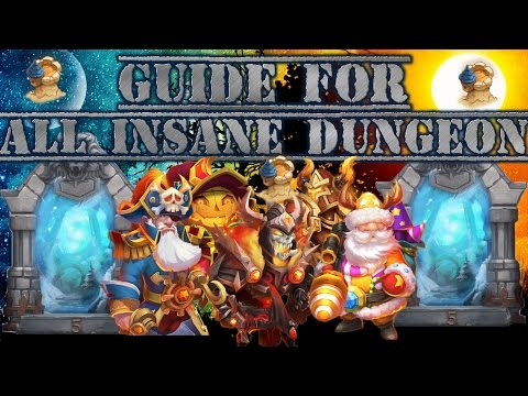 GUIDE TO ALL INSANE DUNGEONS!!!-CASTLE CLASH