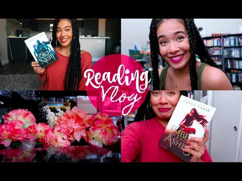 READING AN EMBER IN THE ASHES  || Vlog