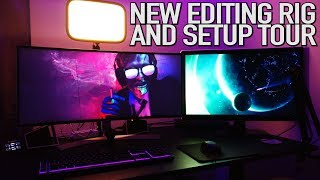 Pistol's New Editing Rig & Setup Tour | Intel i9 Upgrade & Build Video