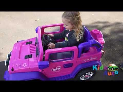 Kidz Auto Jeep Pink Kids Ride On Cars Australia New Zealand Kidz Auto Youtube