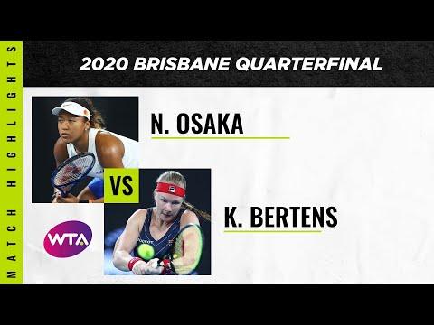 Kiki Bertens vs. Naomi Osaka | 2020 Brisbane International Quarterfinal | WTA Highlights