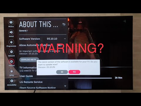 LG B8 Software Update 05.10.25, WARNING Again?