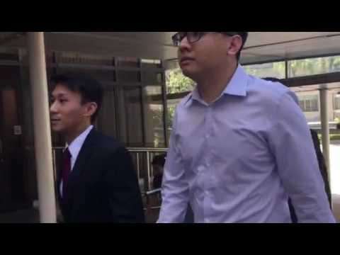 Yang Kaiheng arrives in court with his lawyer, Mr Choo Zheng Xi