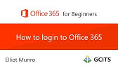 How to login to the Office 365 Portal - YouTube