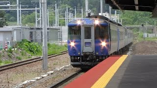 JR北海道 函館本線 渡島大野駅 到着車窓 & 貨物・特急 通過シーン 2015 .6