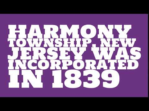 When was Harmony Township, New Jersey founded?