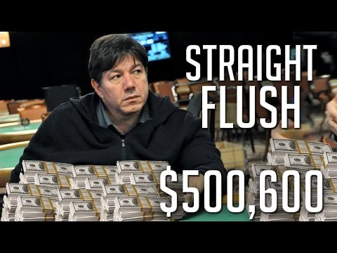 $500,600 Pot With A STRAIGHT FLUSH! Can He Get Paid Off By A Set?