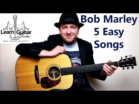 Easy Beginner Guitar Lesson - Play 5 Bob Marley Songs With 5 Chords